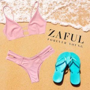 🆕NWT Caged Bandage Bikini Swimwear